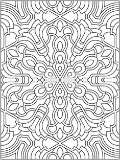 Mandala to color from Dover