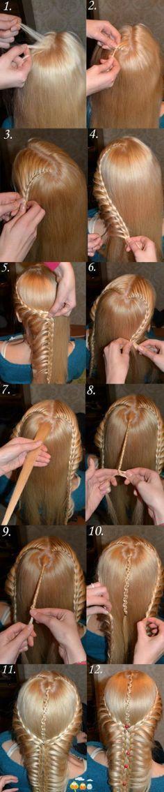 Tết tóc kiểu thác nước