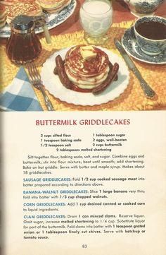 Retro Recipes, Old Recipes, Vintage Recipes, Brunch Recipes, Meat Recipes, Appetizer Recipes, Breakfast Recipes, 1950s Recipes, Cooking Recipes