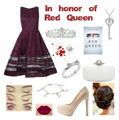 red queen by leticia1227 on Polyvore featuring beleza, West Coast Jewelry, Kate Spade, Amanda Rose Collection, Kate Marie, Oscar de la Renta, Alice + Olivia, Qupid and TEM