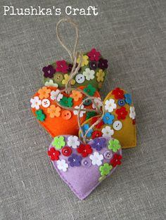 """New is store - """"Blossoming love"""" lavender hearts, great Mother's day gift idea."""