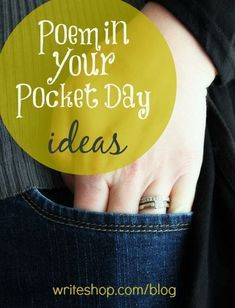 7 ways you and your kids can celebrate Poem in Your Pocket Day. Includes free printable poetry bookmarks!