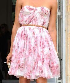 Christian Dior Draped Floral Dress