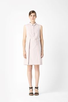 COS image 1 of Cotton shirt dress in Biscuit
