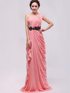 Oneshoulder  Aline Chiffon Prom Dress Ruffle Peplum  by missprom, $129.00