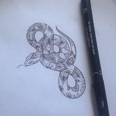 Pattern Snake Tattoo by Medusa Lou Tattoo Artist - medusaloux@outlook.com