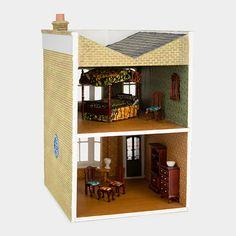 Interior of Aritst-made dollhouse at the MoMA store: Yinka Shonibare: Untitled (Dollhouse) | MoMA Store