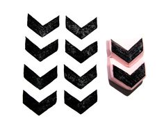 Chevron Pattern Hand Carved Rubber Stamp. $6.49, via Etsy.