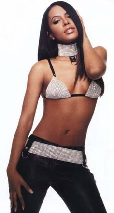 """Aaliyah's outfit in the """"Try Again"""" video- possibly get hair extensions"""