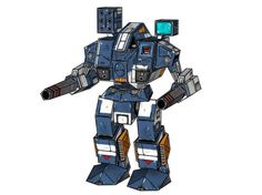 This mech paper model is Warhammer, a mechfrom the game Classic BattleTech,the papercraft is created by Whammy.The size of finished model is about 259 (
