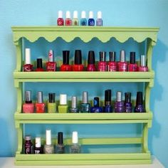 Genius idea: Organize nail polish using a spice rack. Will do this right away!