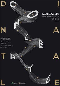 """Concerto Di Natale"" (Christmas Concert), at Senigallia (Italy), in 'Auditorium San Rocco', h. 18, 12/26/2017, 'Comune di Senigallia', (2017) - Graphic Design by Monica Fratesi (b.?, Italian)."