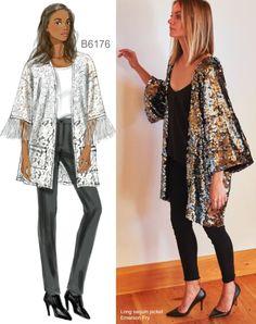 Sew the Look: Butterick B6176 sequin kimono