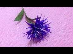 How to Make Cornflower Crepe Paper flowers - Flower Making of Crepe Paper - Paper Flower Tutorial - YouTube