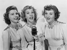 The Andrews Sisters are the most successful female group of the 1940's! Love them!
