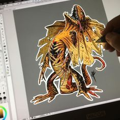 Always thought the frilled lizards were rad!  Thinking this guy might be in ZomBanimals Sticker set 2...whatchu think? Also a name..ZombFrilled? Zombfrilizard?  Set 1 almost gone! http://ift.tt/2aCcrPE or link in my IG bio!  #ZomBanimals #ink #clipstudiopaint #wacom #cintiq #apple #sony #hashtagabuse #lizard #pinterest #twitter #tumblr #blogger #skincare #tongue #fans
