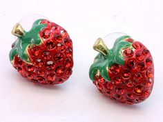 I love strawberry jewelry!