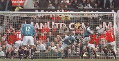 Man Utd 1 Man City 1 in April 2001 at Old Trafford. Steve Howey gets a late City equaliser #Prem