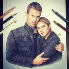 Find images and videos about art, drawing and divergent on We Heart It - the app to get lost in what you love. Divergent Drawings, Divergent Fan Art, Divergent Fandom, Divergent Trilogy, Divergent Insurgent Allegiant, Tris Et Tobias, Tris Und Four, Theo James, Hunger Games