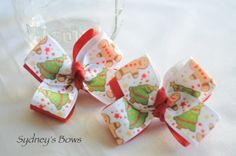 Christmas Gingerbread Man Boutique Hair Bow Hair by SydneysBows, $4.50