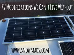 From solar to a tankless water heater to tire pressure monitors and the best RV…