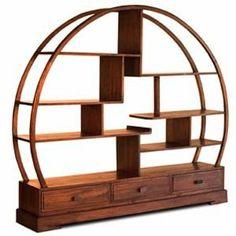 handmade Buddha Bookcase - built with sustainable teak Japanese Furniture, Asian Furniture, Green Furniture, Chinese Furniture, Furniture Design, Cheap Furniture, Furniture Boutique, Wood Sample, Modern Bookcase