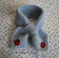 Une troisième écharpe feuille, mais cette fois-ci avec une coccinelle en jacquard mais elle peut être brodée une fois le tricot terminé et s...                                                                                                                                                                                 Plus