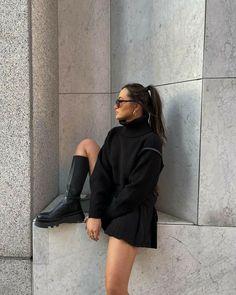 Winter Fashion Outfits, Look Fashion, Fall Outfits, Girl Fashion, Fashion Design, Looks Black, Outfit Goals, Mode Outfits, Minimal Fashion