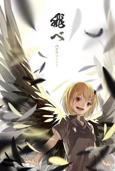 Yachi Hitoka - wing | Omg! How cute she is! She looks like angel!