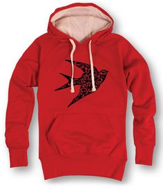 Red Sparrow Filigree Fill Hoodie