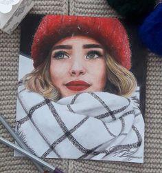 Pencil Art Drawings, Realistic Drawings, Art Drawings Sketches, Watercolor Portrait Painting, Portrait Art, Watercolor Paintings, Illustration Mode, Color Pencil Art, People Art