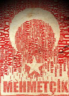 Türk Bayrağı - Turkish Flag Typo by ~omerfarukciftci on deviantART