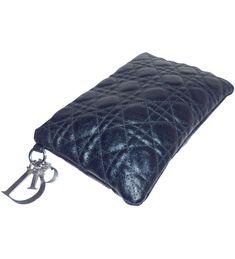 depot vente de luxe en ligne - luxury eshop online - CHRISTIAN DIOR -  POCHETTE PANAREA NOIRE EN TOILE CANNAGE ENDUITE   TendanceShopping.com  dior   lovedior ... ed7d38fcb74