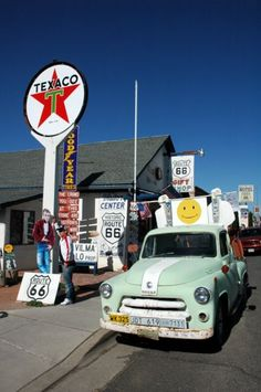 """{off the beaten path - Route 66} -- """"If you ever plan to motor west... get your kicks on Route 66..."""")"""