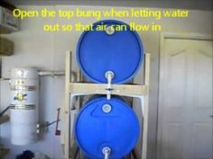 Learning how to store water long term is a vital skill that should immediately be learned as you start your prepping journey. Long term water storage will save your life. Water Barrel Storage, 55 Gallon Water Barrel, Long Term Water Storage, Gallon Of Water, 55 Gallon Plastic Drum, Plastic Drums, Rain Barrel System, Emergency Preparedness Food Storage, Storage Rack