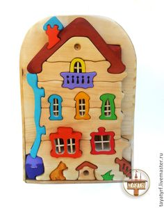 Купить Кошкин дом конструктор-паззл - кукольный дом, кошкин дом, теремок, Конструктор, мозаика