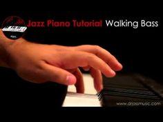 DRJASSMUSIC - JAZZ PIANO TUTORIAL Walking Bass (DEMO)