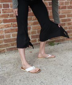 Earth Frendly Flowy Yoga Pants - Seaweed. $70.00, via Etsy.