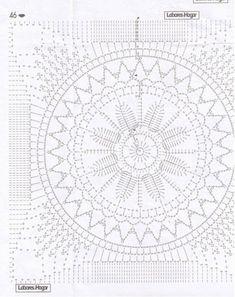 39 Patrones de mandalas en crochet Crochet Blocks, Crochet Squares, Crochet Granny, Crochet Doilies, Crochet Mandala Pattern, Crochet Diagram, Crochet Symbols, Crochet Cushions, Crochet Patterns For Beginners