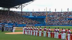 'Power of Baseball': Crowd of 55,000 in Cuba for the historical game between the Tampa Bay Rays and the Cuban National team which the Rays won  4-1 3/22/16. It was the first game in Cuba since 1999 & coincided with a visit of Pres. Obama of US to foster better relations between the 2 countries.