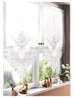 53 ideas kitchen window shutters shabby chic for 2019 Cafe Curtains, Curtains With Blinds, Kitchen Curtains, Drapes Curtains, White Curtains, Valances, Drapery, Bathroom Window Treatments, Custom Drapes