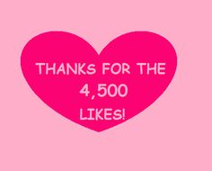 GIVEAWAY!! OUR FACEBOOK MILESTONE..4,500 LIKES