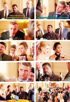 Boden: Don't want you all catching grief on my behalf. Casey: We're just having a drink with our Chief. (4x07)