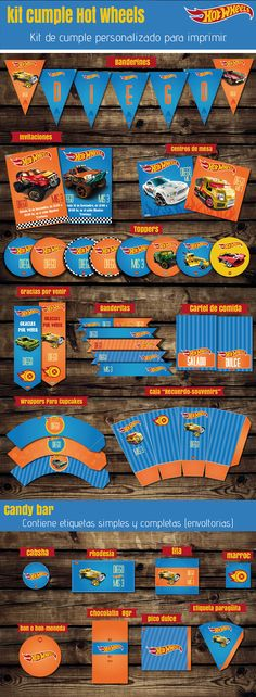 #kit #HotWheels #autos #niño  #invitaciones #imprimible #kitimprimible #cars #cumplenene #banderines #toppers #candybar #cumplehotwheels #cumpletematico #fiestacumple 5th Birthday Boys, Hot Wheels Birthday, Hot Wheels Party, Race Car Birthday, Jesus Birthday, Batman Birthday, Cars Birthday Parties, Imprimibles Hot Wheels, Kids Party Themes