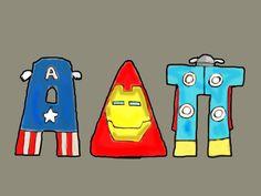 Alpha Delta Pi letter shirt design #alphadeltapi #adpi #letters #avengers #greekletters #sorority