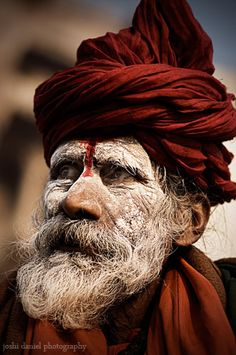Portrait of an ash smeared sadhu