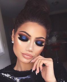 Instagram makeup look with glitter lid.
