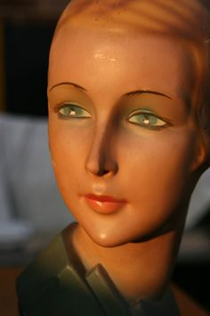 Art Deco Millinery Mannequin WWII Original by AntiqueThingsIsee,