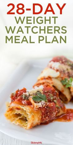 28-Day Weight Watchers Meal Plan - perfect for weight loss meal planning! #weightwatchers #ww #smartpoints