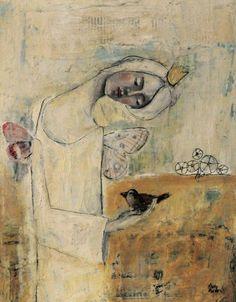 Somerset Velvet Giclee Print by Misty Mawn Art Journal Inspiration, Art Painting, Figure Painting, Painting, Whimsical Art, Art, Figurative Art, Altered Art, Bird Art